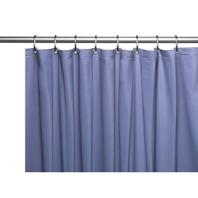 Ebern Designs Morissette Vinyl 3 Gauge Single Shower Curtain Liner