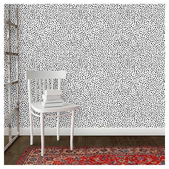 Speckled Dot Peel & Stick Wallpaper Black Opalhouse™ in