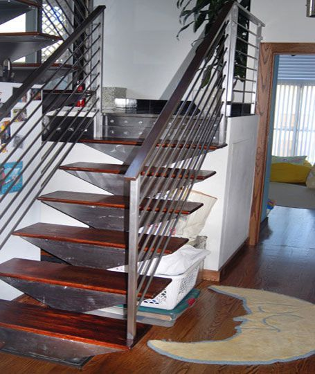 Best Custom Brushed Steel Staircase Staircase Spindels 400 x 300