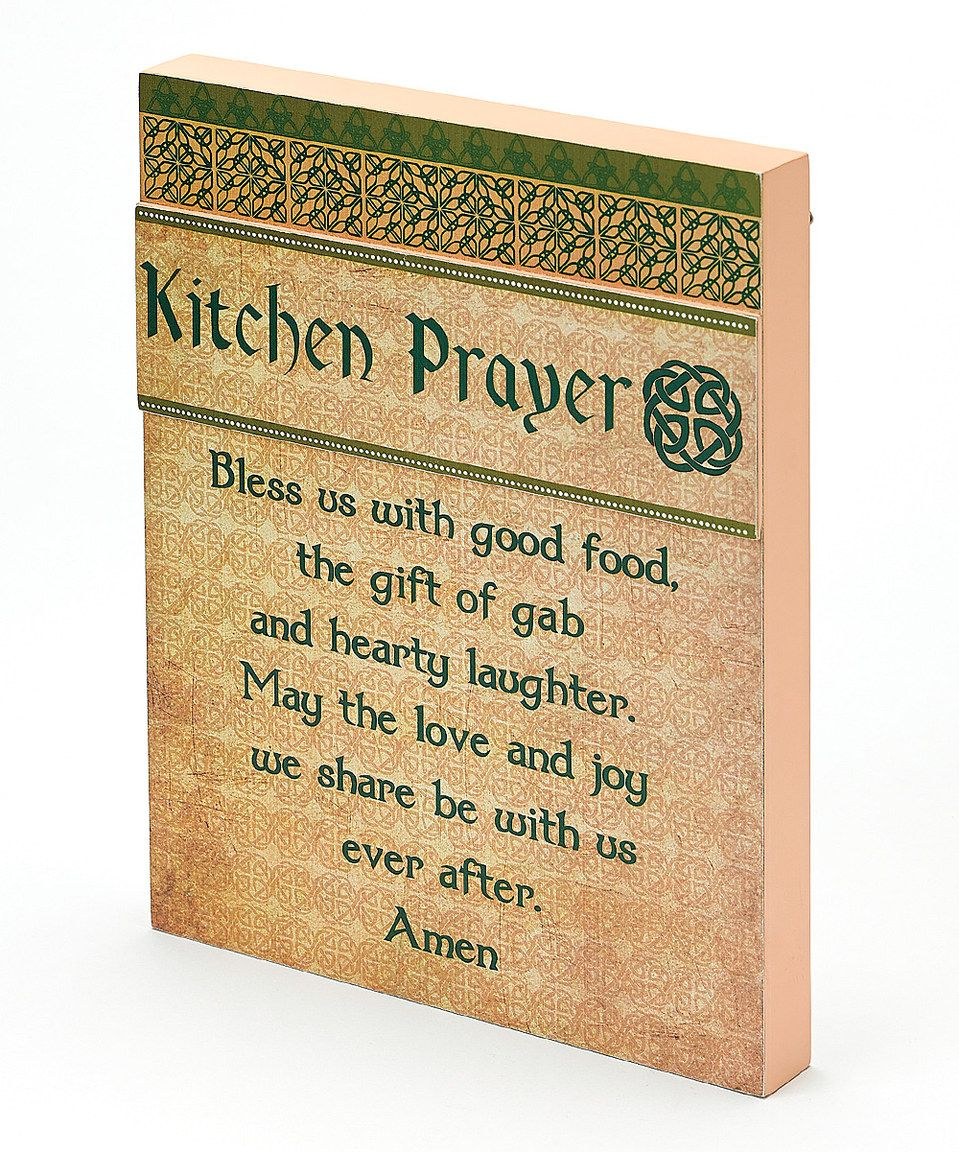 Irish Kitchen Prayer Wall Art by Roman #zulily #zulilyfinds | Zulily ...
