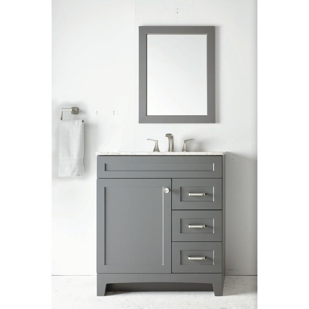 Home Decorators Collection Thornbriar 30 In W Bath Vanity In