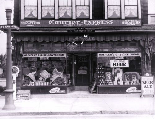 1950s General Store Buffalo Ny Grocery Sign Advertising Signs