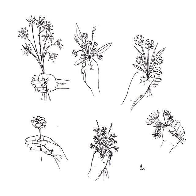 laurasupnik:  fleurs pen and ink