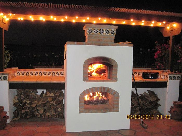 Prefab Pizza Oven Fireplace Upper Is Wood Fired Lower Gas Burner