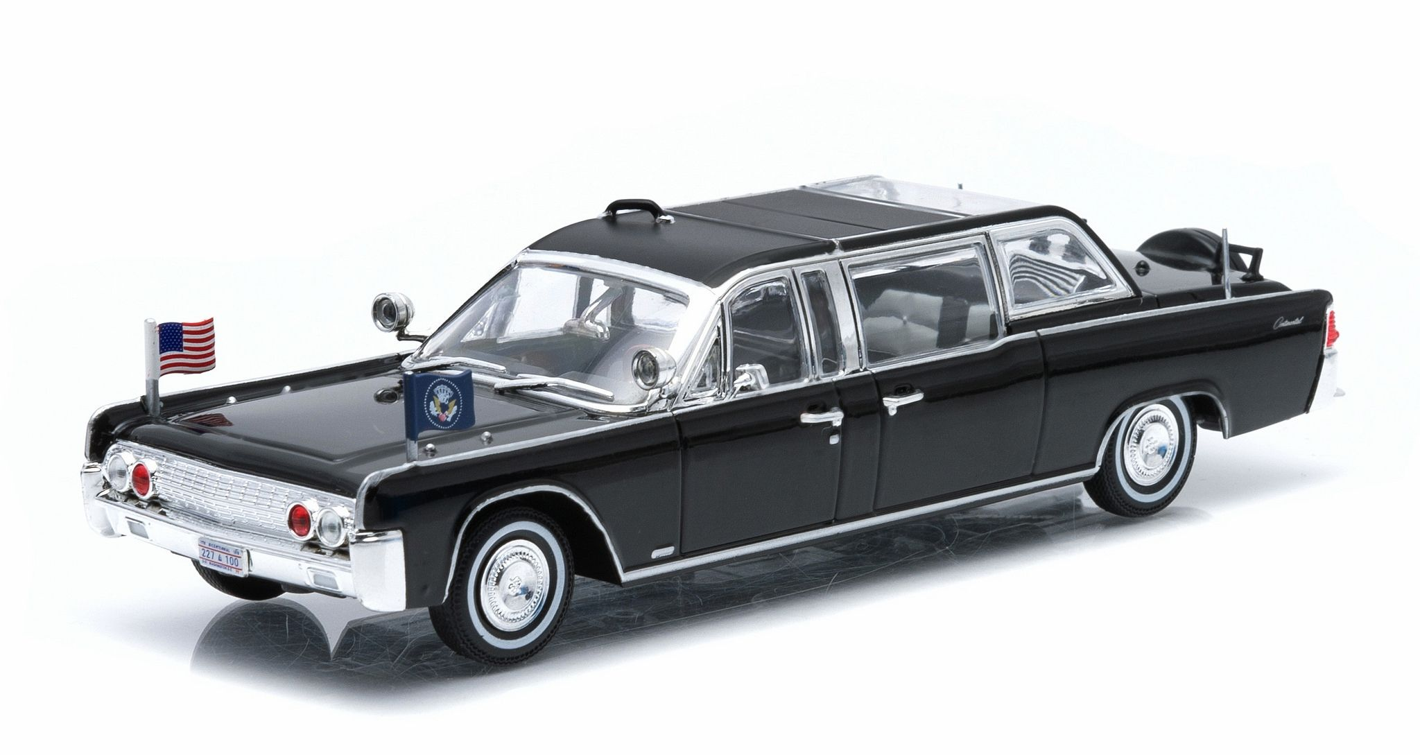 presidential limos series 1 1961 lincoln continental ss 100 x john f kennedy by greenlight. Black Bedroom Furniture Sets. Home Design Ideas