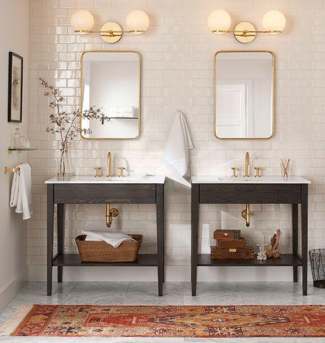 O G Contrapesso Led Double Sconce Bathroom Interior Bathroom