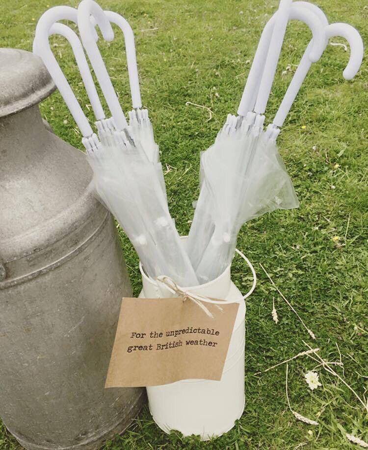 Umbrellas for the unpredictable Great British weather!