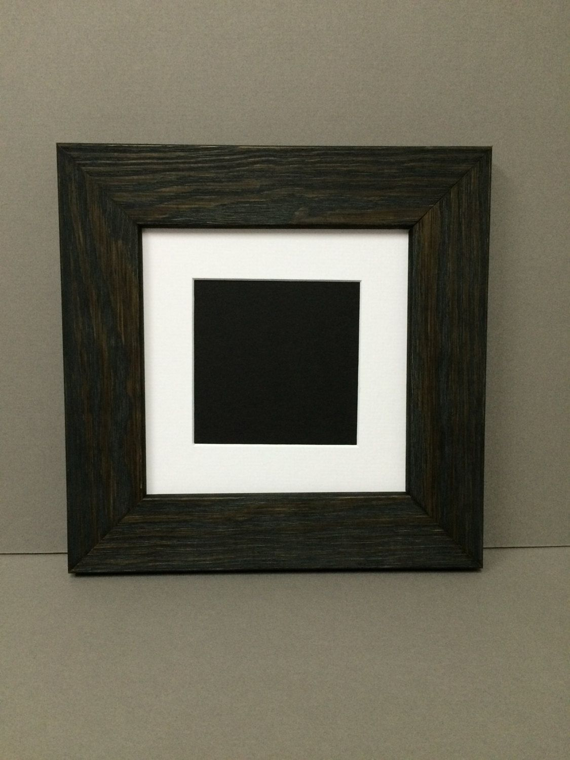 10x10 Square Rustic Black Black Picture Frame With White Mat For 6x6 Picture By Bux1picturematting On Etsy Htt Rustic Black Picture Frames Black Picture Frames