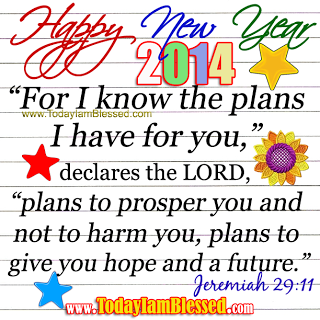New Year Bible Verse Greetings Card | words | Pinterest | Bible ...