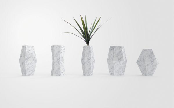 Marble Furniture - Vase by François Hurtaud