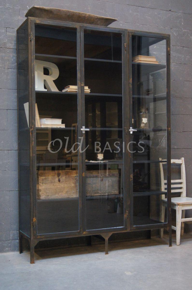Apothekerskast vitrine 3 ind old basics kitchen m bel coole m bel en vitrine - Ausgefallene wohnzimmermobel ...