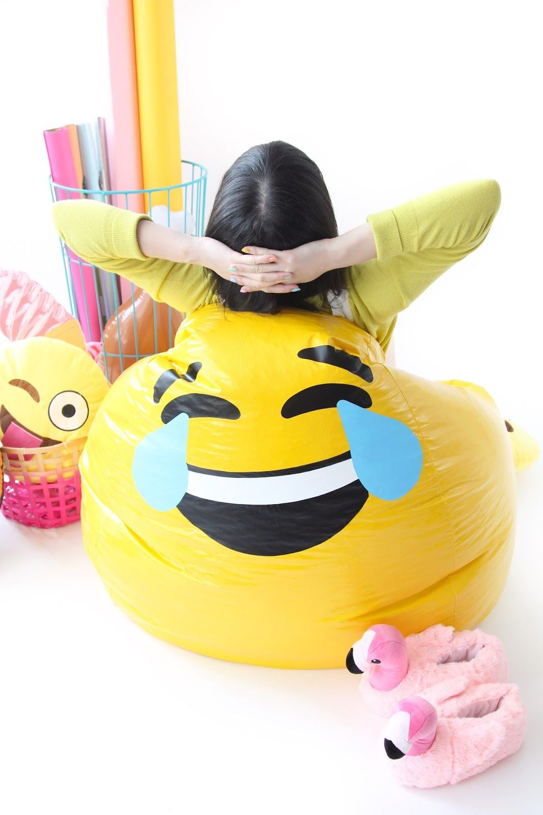 Diy Emoji Bean Bag Chair Emoji Bean Bag Emoji Room Emoji Bedroom