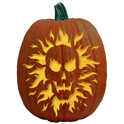 Scary Pumpkin Carving Patterns: An Old Flame - Download Pumpkin Carving Pattern