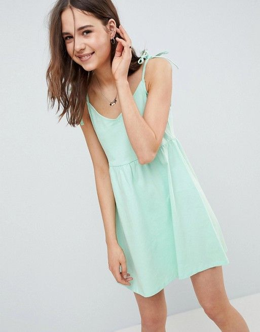 363a576c53d DESIGN mini smock sundress with tie straps in 2019