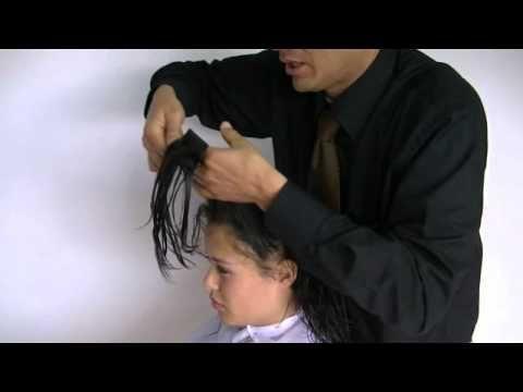 Corte de cabello tres capas desvanecidas