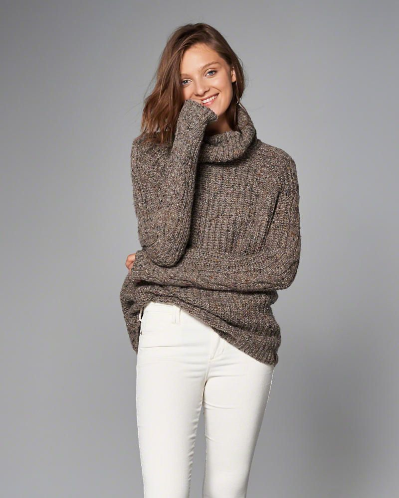 A&F Cable Turtleneck Sweater in Oatmeal - $68 | Wishlist ...