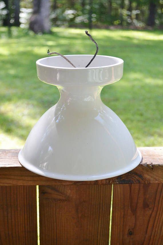 Vintage Porcelain Ceiling Light Fixture White Retro Bathroom | Home ...