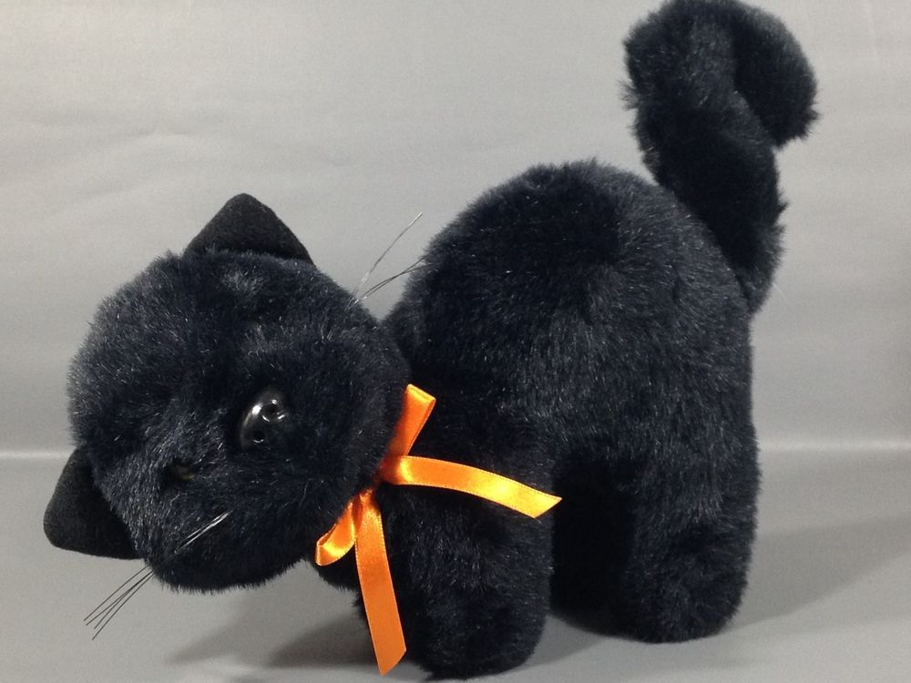 Details About Douglas Midnight Plush Black Cat Toy 12 Stuffed