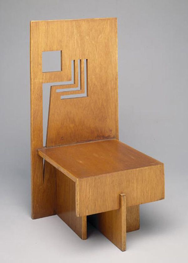 Trier House Side Chair By Frank Lloyd Wright (c. Wright Working With  Plywood.