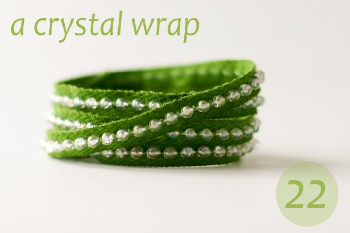 flax & twine   craft + diy: Day 22: A Crystal Wrap - a diy bracelet tutorial