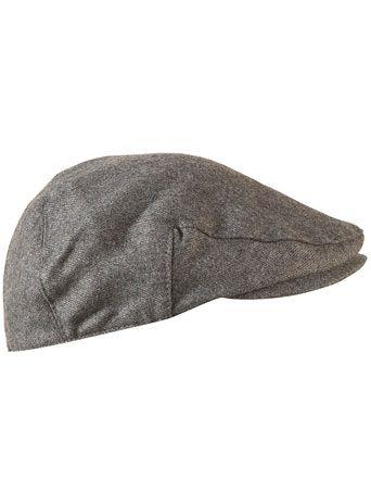 f75fa57e18f GREY FLANNEL FLAT CAP - Topman