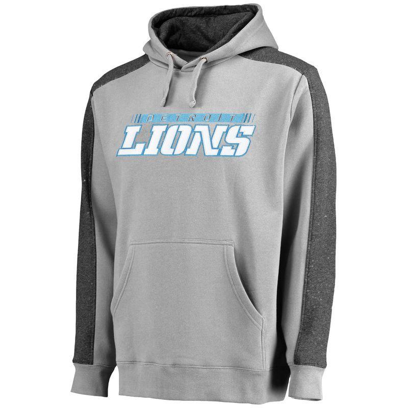 c5b11a0b Detroit Lions NFL Pro Line Westview Pullover Hoodie - Gray ...