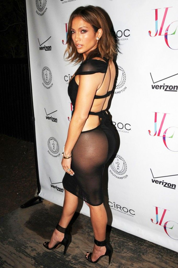 J Lo Celebrates Her 46 Birthday In Her Most Naked Dress