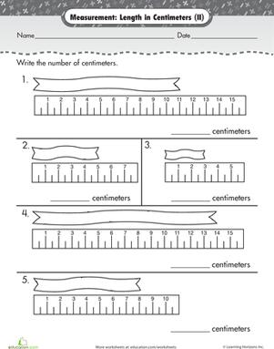 measurement length in centimeters worksheets math and school. Black Bedroom Furniture Sets. Home Design Ideas