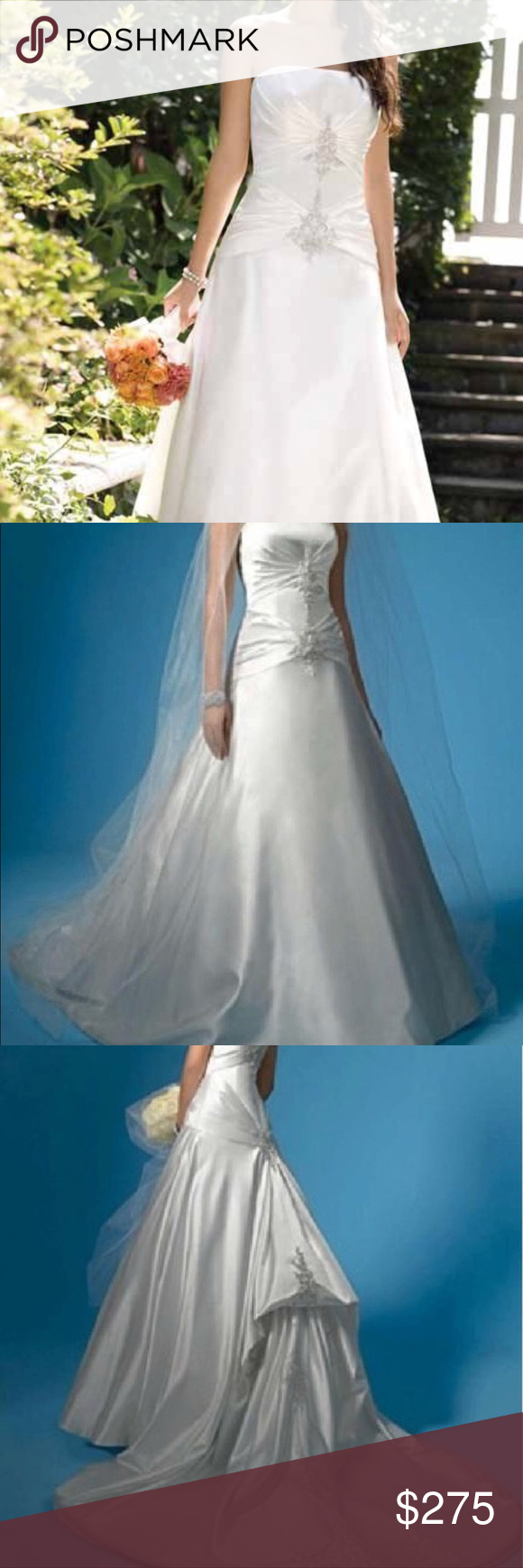 Alfred Angelo Wedding Dress ********Pearl Color Dress Open Box never ...