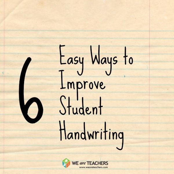 6 Easy Ways to Improve Student Handwriting | Homeschooling ...