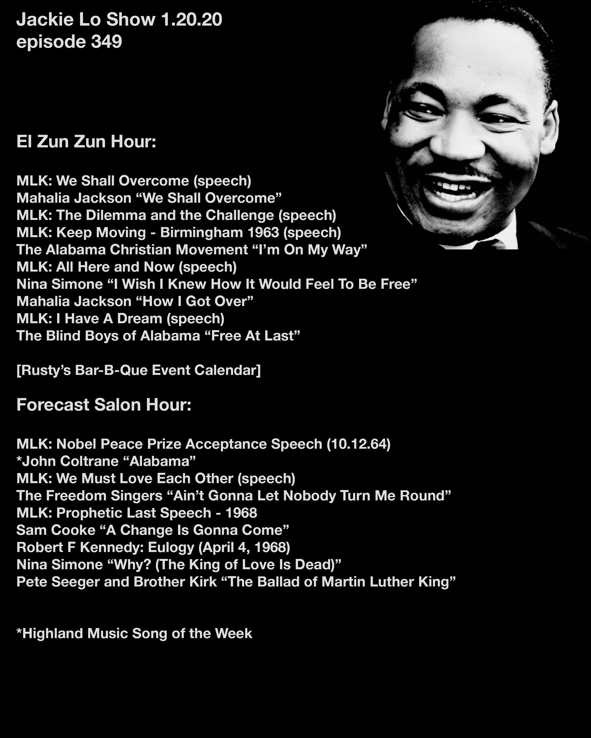 Dr Martin Luther King Jr Show Mlk Playlist Mahalia Jackson Martin Luther King Jr Mlk