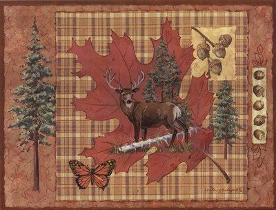 Deer Leaf All together (decoupage, prints, vintage) Pinterest - potluck sign up sheet template