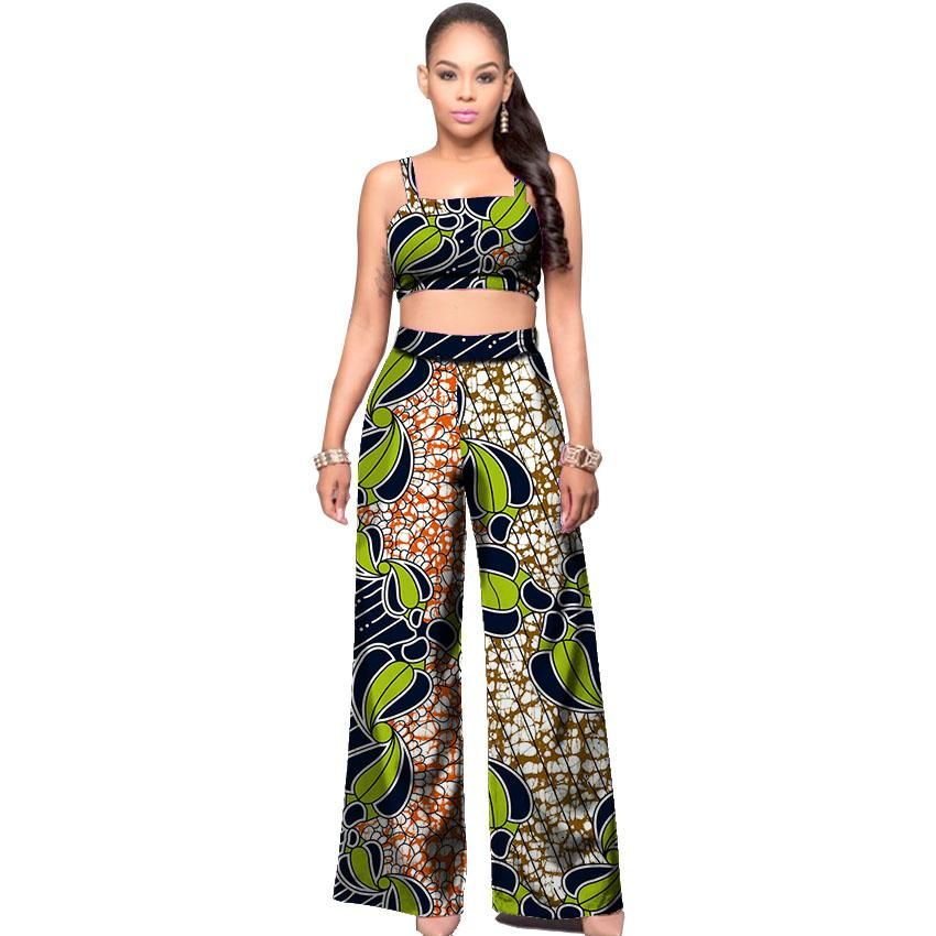 a65225e709e High Waist Bodysuit Africa Rompers Out Off Shoulder Long Pants for Women