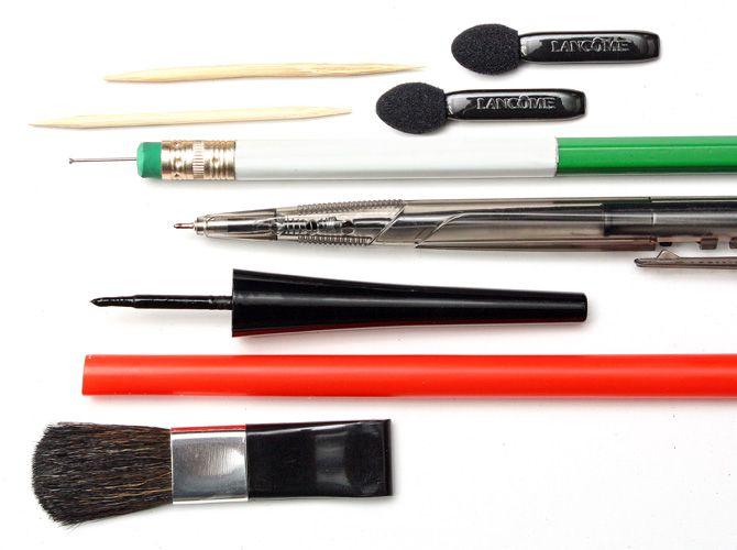 11 Nail Art Tools You Can Find At Home Nail Art Tools Cool Nail