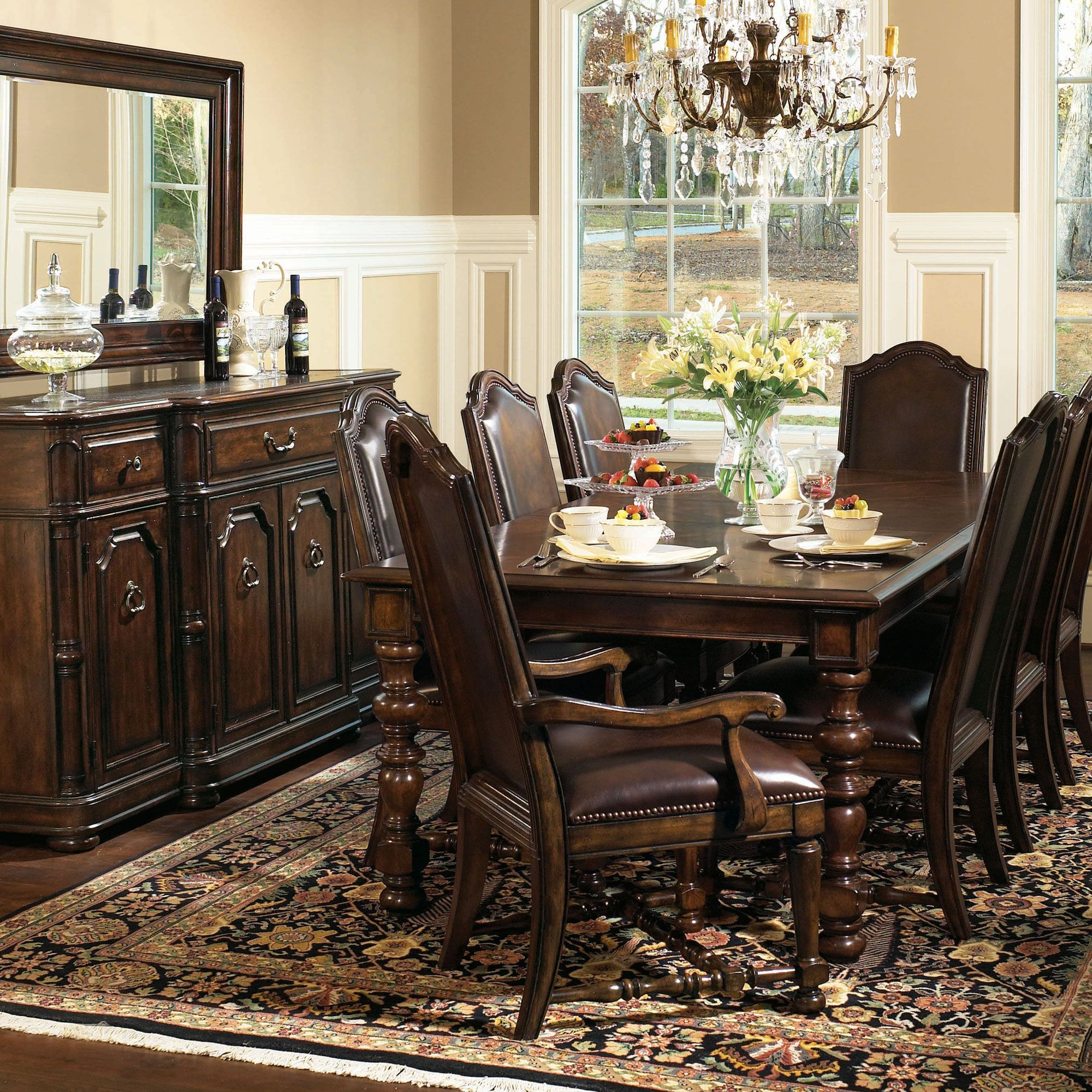 Bernhardt Normandie Manor Dining Room Setting Formal Dining Room Sets Bernhardt Dining Table High Back Dining Chairs