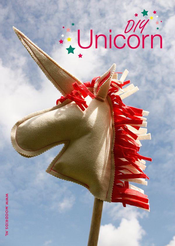 DIY unicorn - eenhoorn stokpaard zelf maken met Moodkids