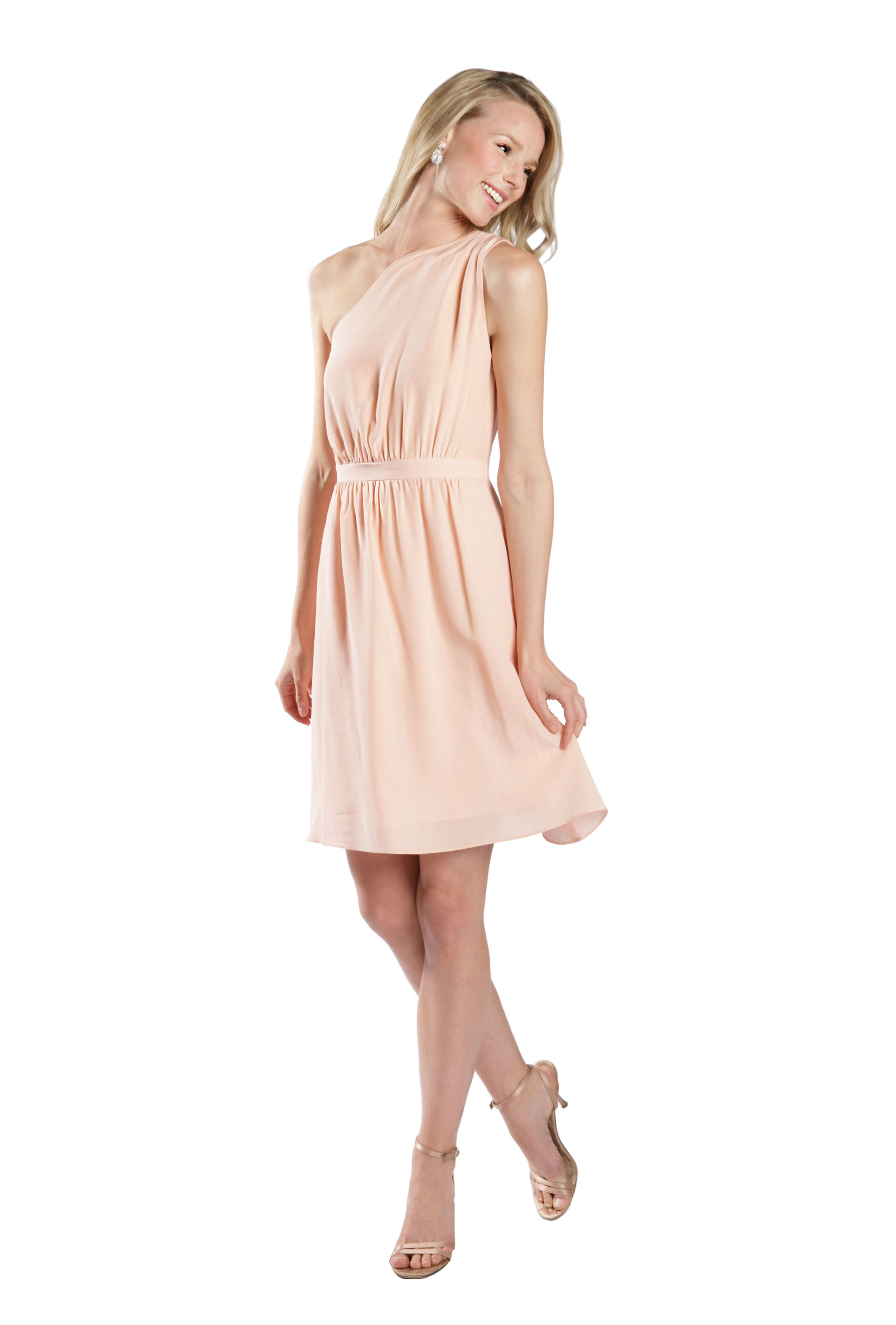 Renting wedding dresses  lulakate matte silk Haley bridesmaid dress in pink Discover more
