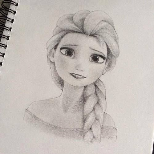 Pencil sketch of disney 39 s character elsa this is awesome for Beautiful images to draw