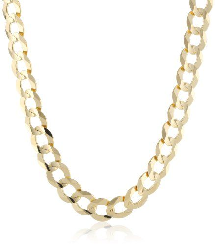 Men S 10k Yellow Gold 9 8mm Italian Cuban Chain Necklace 26 Quot List Price 4 705 00 Price 1 960 Gold Chains For Men Chains For Men Gold Chain Jewelry