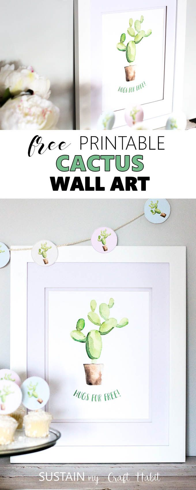 picture relating to Free Printable Wall Art Decor identify Totally free printable cactus wall artwork Absolutely free Printables Cactus