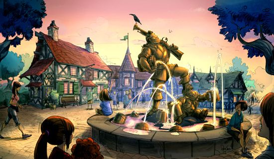 Cant wait! - Artist Rendering of Belle's Village Upon Completion