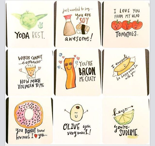 Sweet and Punny valentines day cards wwwetsycomshop
