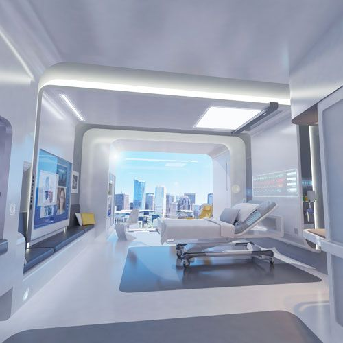 Interior Design Technology Remodelling: One Idea For What A Hospital Patient's Room Will Look Like