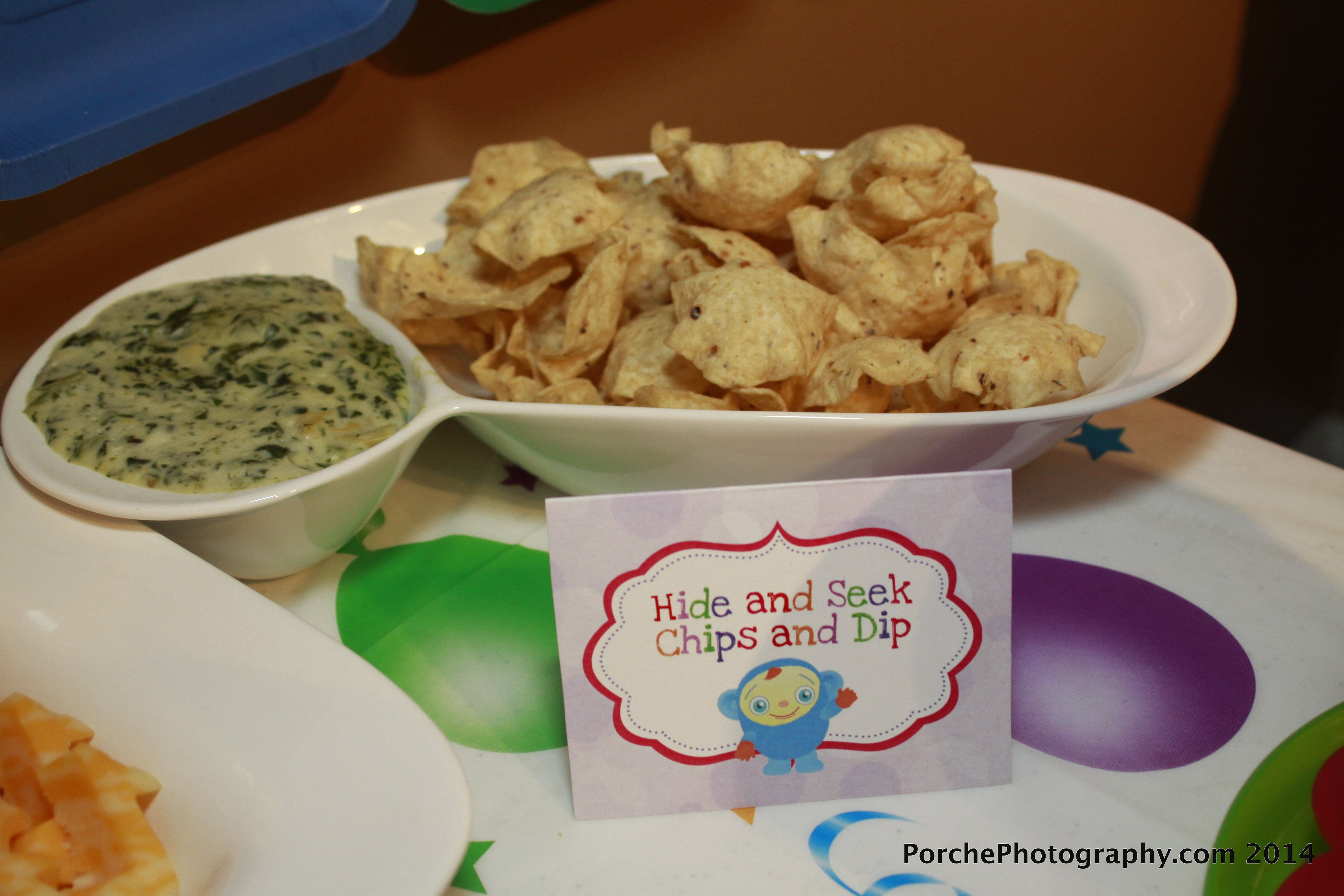 BabyFirst TV birthday party food labels