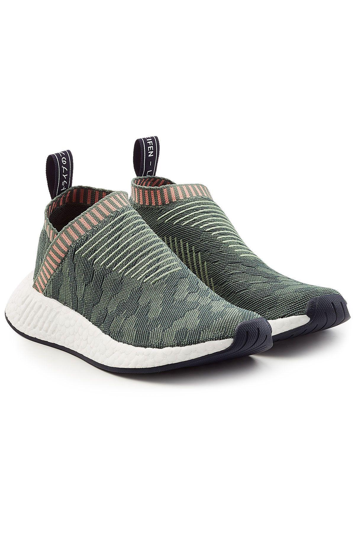 uomini cs2 nmd primeknit & reg; scarpe da ginnastica, verde nmd, adidas e originali.