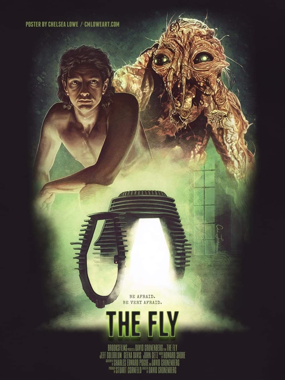 """Horror Movie Poster Art : """"The Fly"""" 1986, by Chelsea Lowe"""