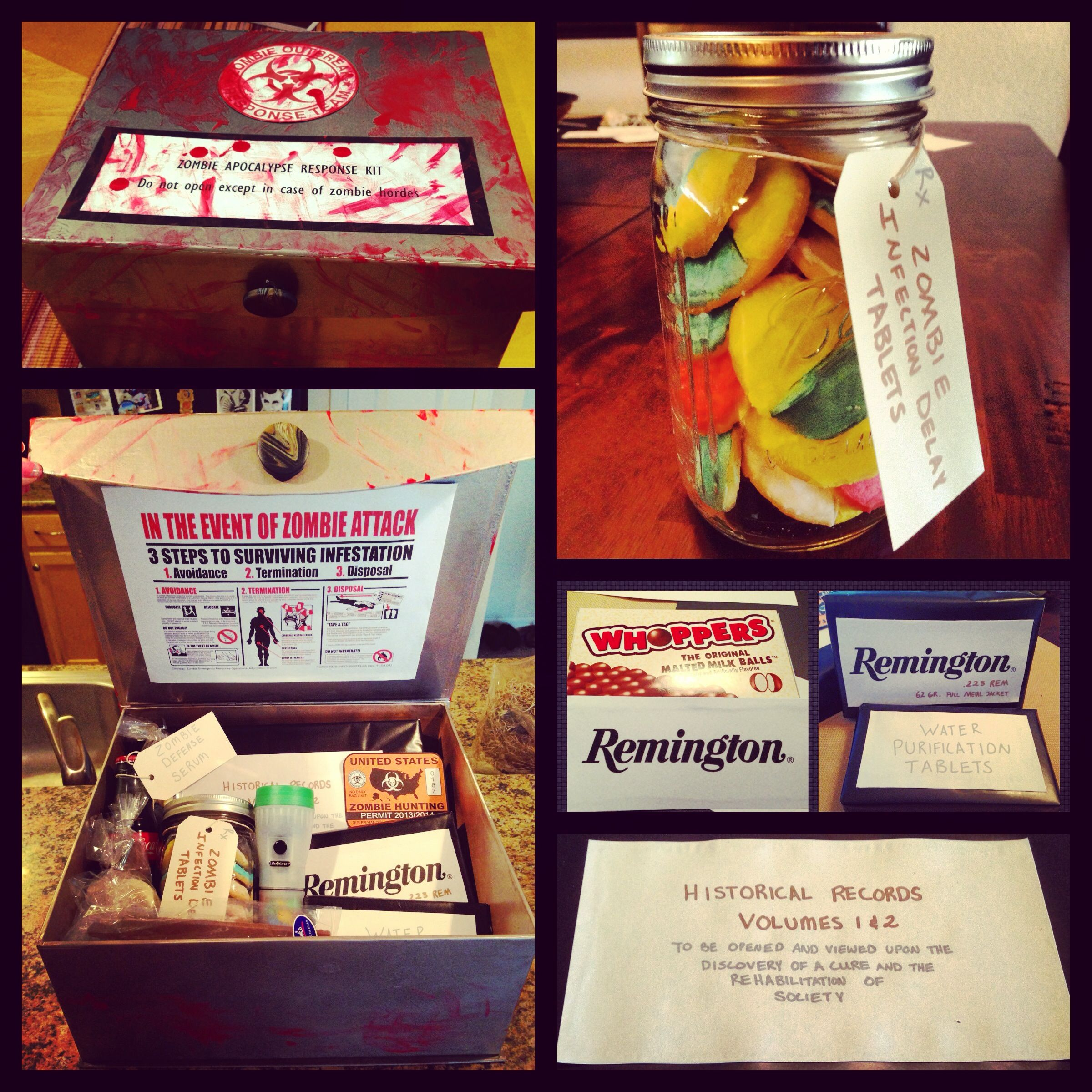 Zombie Survival Kit My Dad And I Watch The Walking Dead Together Every Sunday So For Father S Day Zombie Gifts Christmas Crafts For Gifts Zombie Survival Kit