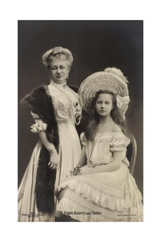 size: 24x16in Giclee Print: Unsere Kaiserin Auguste Victoria Mit Tochter Luise :