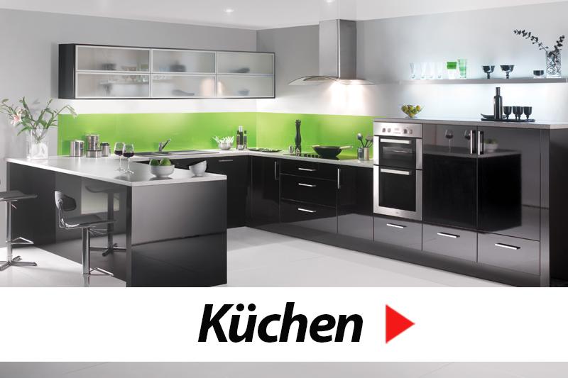 moderne küche grün-schwarz-weiß   nowoczesne kuchnie   pinterest, Hause ideen