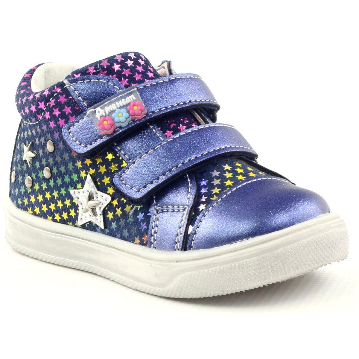 American Club Wygodne Trzewiki Sportowe Z Gwiazda American 703925 Granatowe Sports Shoes Shoes Childrens Shoes